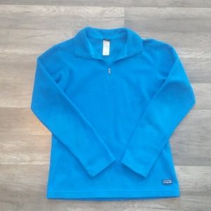 Blue Patagonia half-zip pullover fleece jacket S